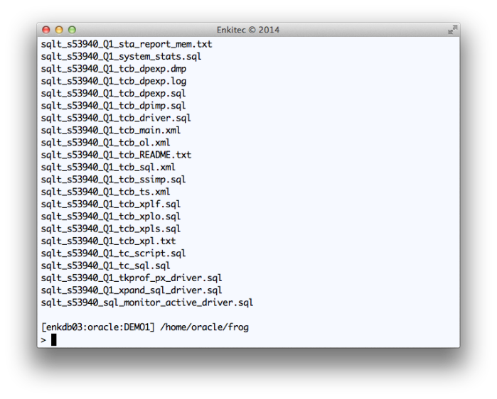 "Reviewing the output of SQLT XTRACT for SQL_ID ""8u0n7w1jug5dg"""