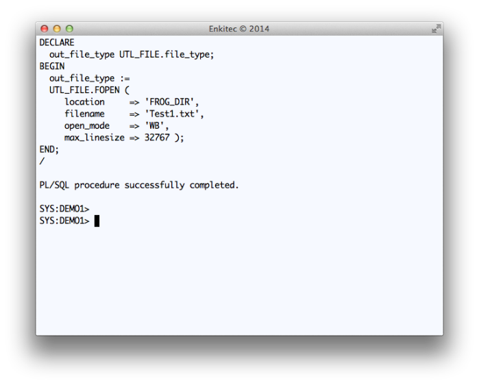 Testing a simple WRITE to FROG_DIR